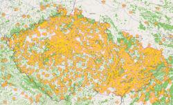 Rozložení prokliků z Skliku na mapě ČR