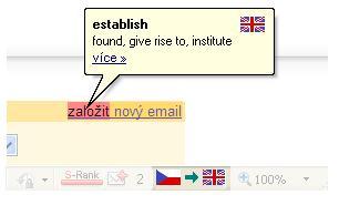 Screenshot překladů