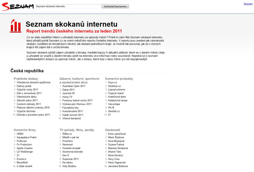 Screenshot - Seznam skokanů