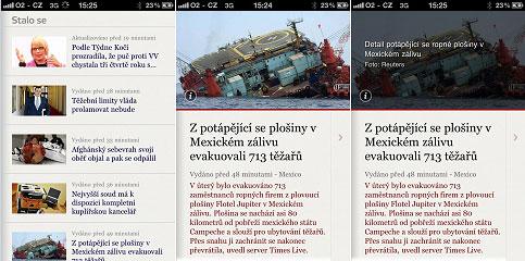 Novinky.cz pro iPhone - screenshot