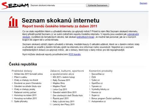 Seznam Skokanů - Duben 2011 - Screenshot