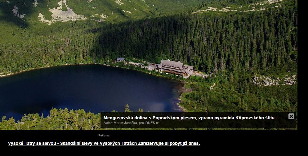 Reklamní plocha Sklik ve fotogalerii na iDNES.cz