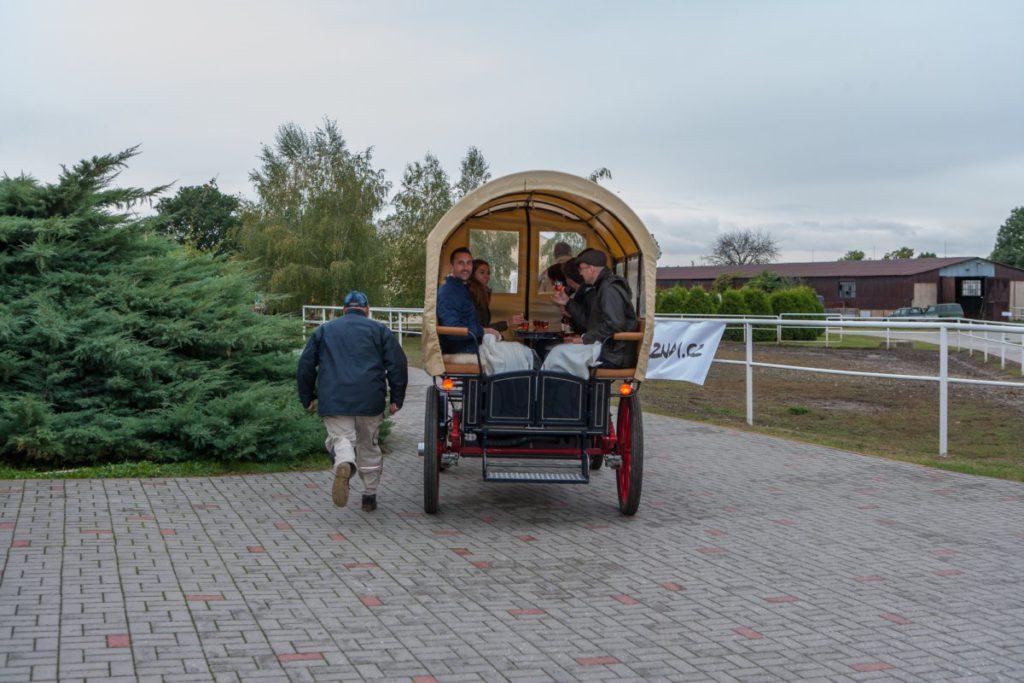 Projížďka historickým kočárem v Němčicích na Klubu Sklik 2016