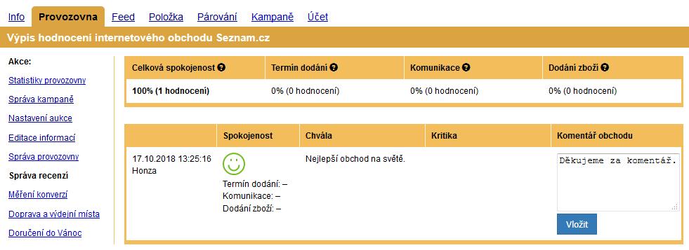 02068a92b Zboží.cz na novou recenzi nijak neupozorňuje. Doporučujeme proto pravidelně  sledovat, jestli obchodu nepřibylo nové hodnocení. E-shopy mohou na recenze  ...